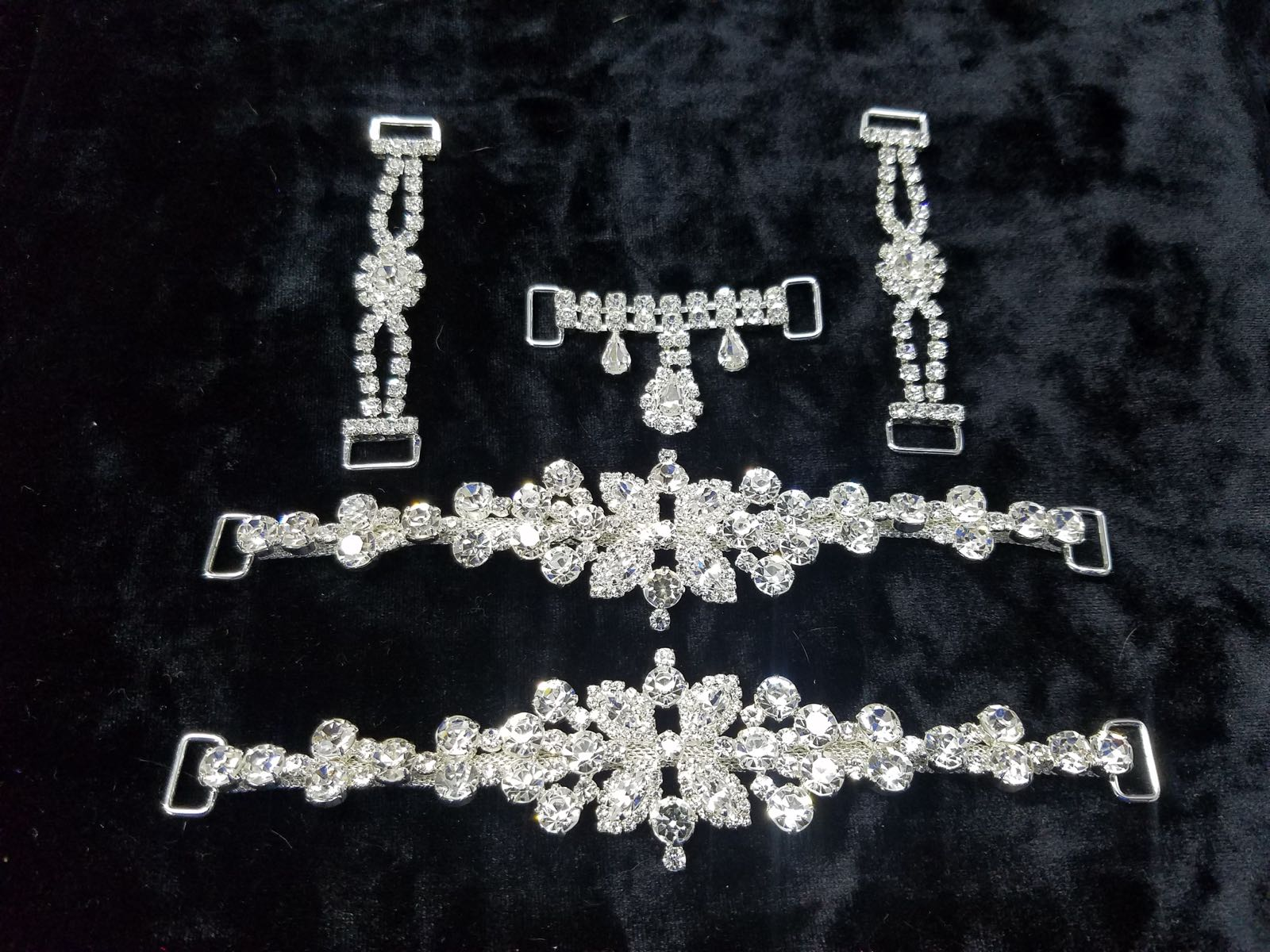 Set L , Silver with clear crystals, $116.00