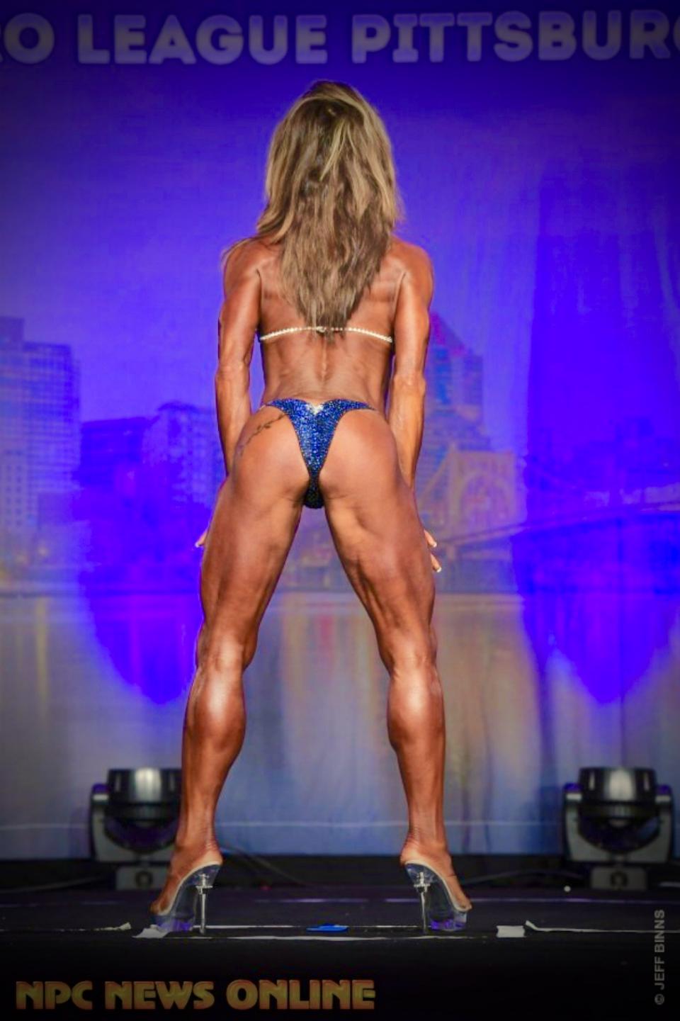 Shelly Paton in a Merry Christine Bodywear competition bikini