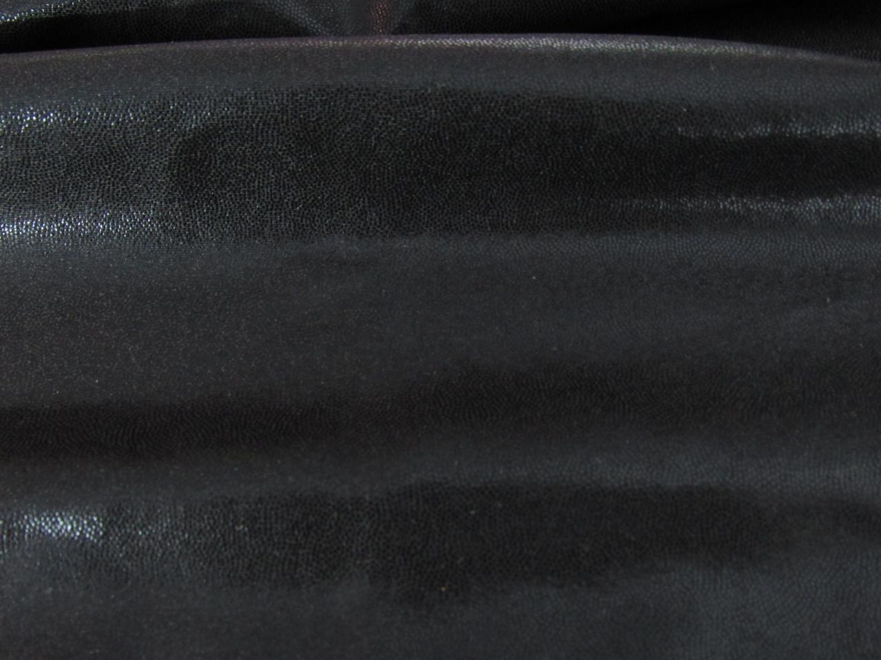 Black Lycra with black pin dots