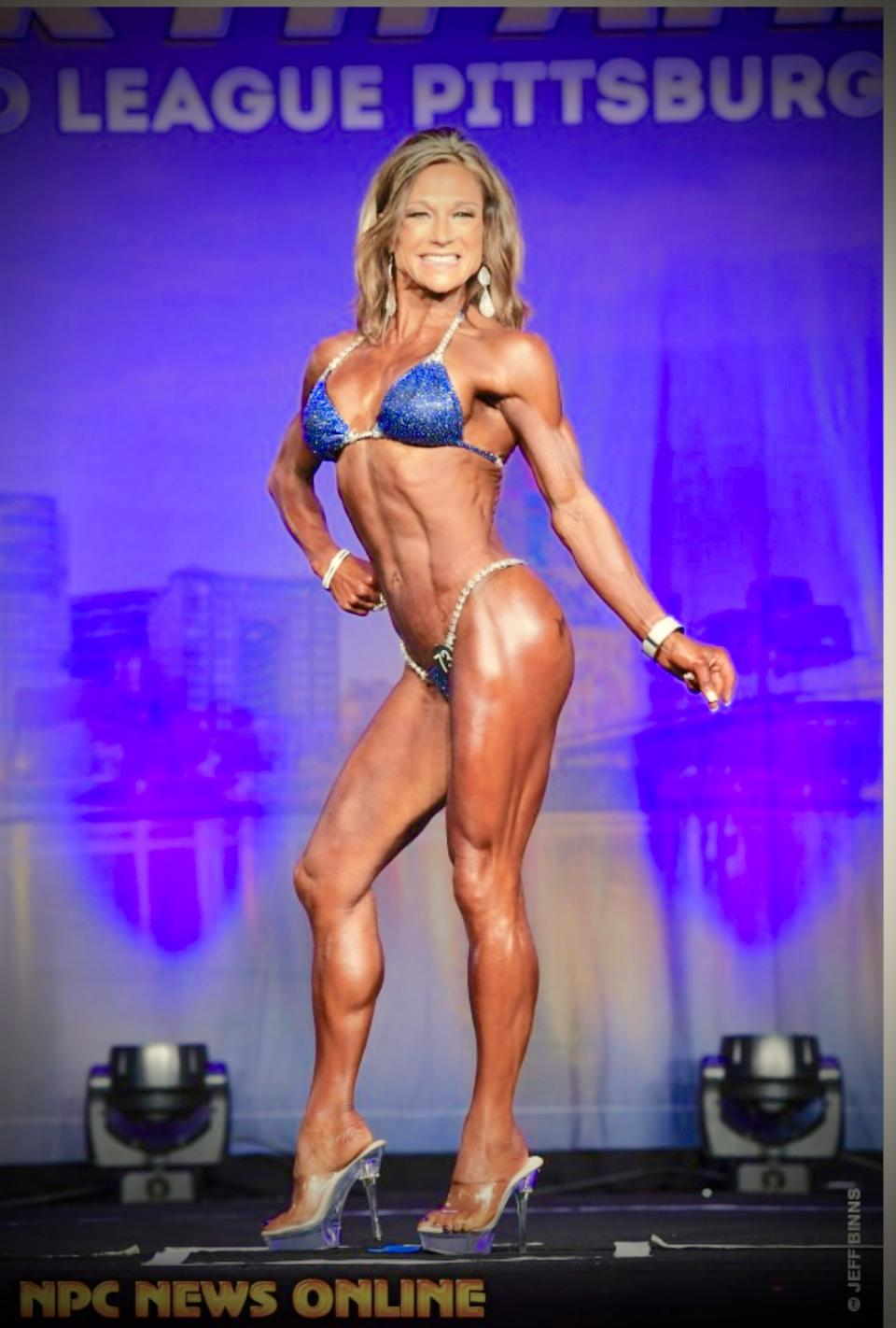 Shelly Paton in a Merry Christine Bodywear competition bikini