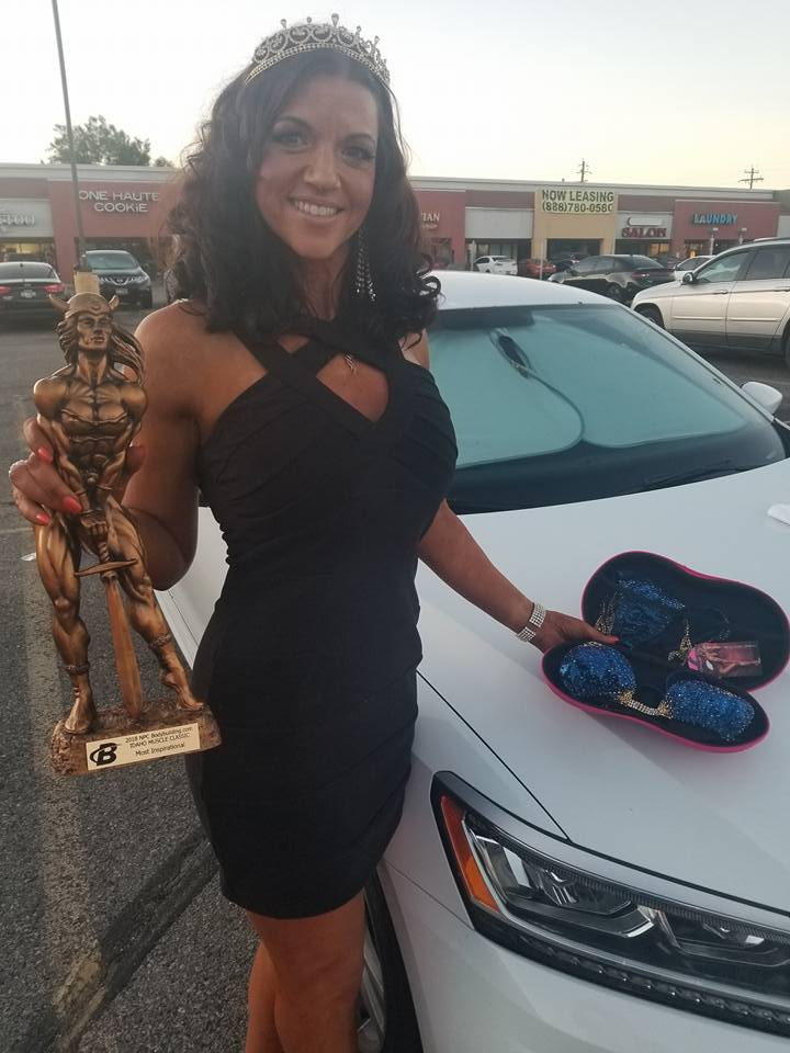 Geri Machado Helm receives most inspirational award along with a couture Merry Christine Bodywear bi