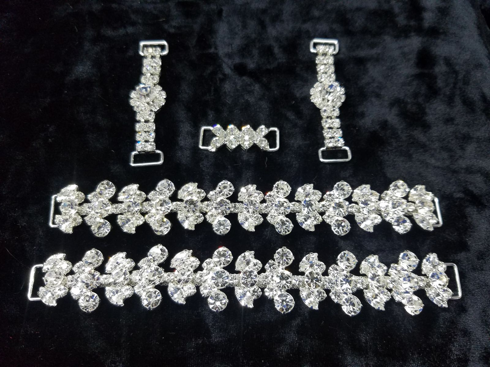 Set N, Silver with clear crystals, $116.00