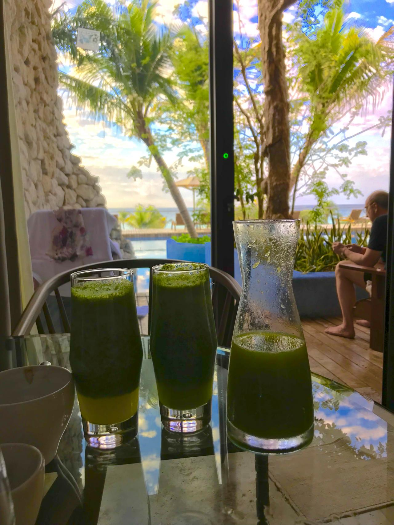 Green juice every morning.