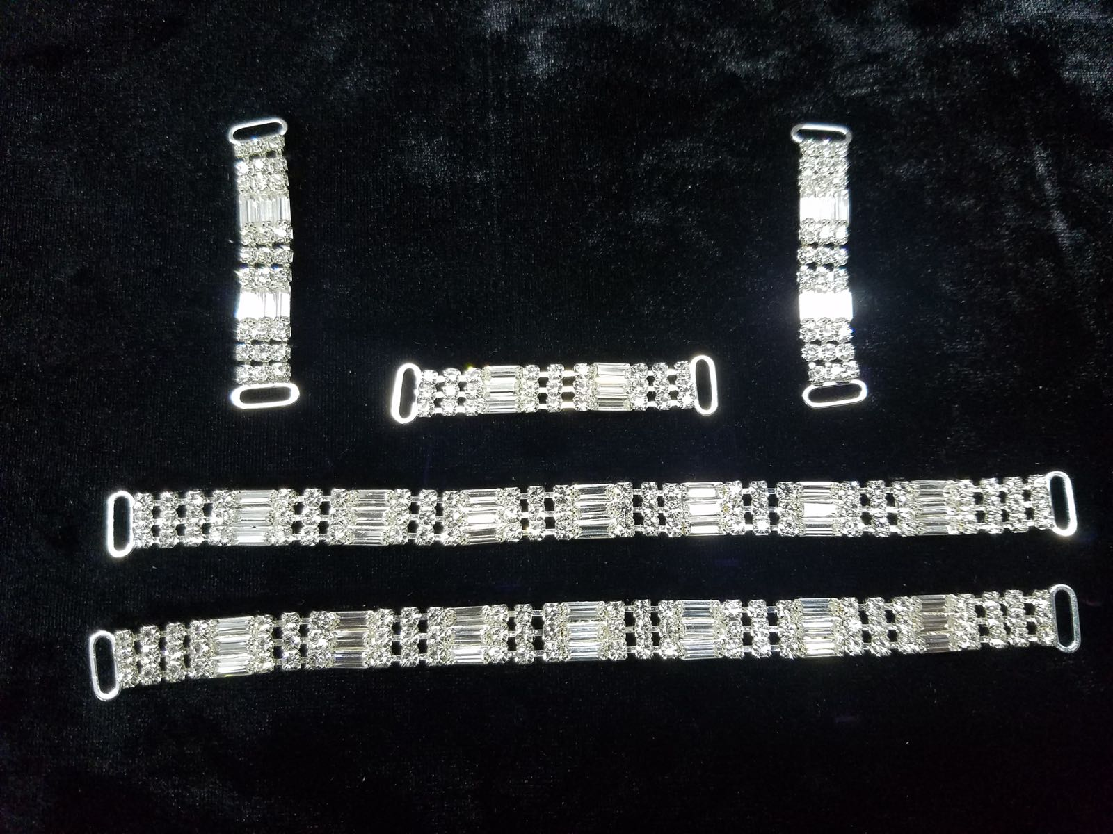Set G, Silver with clear crystals, $85.00