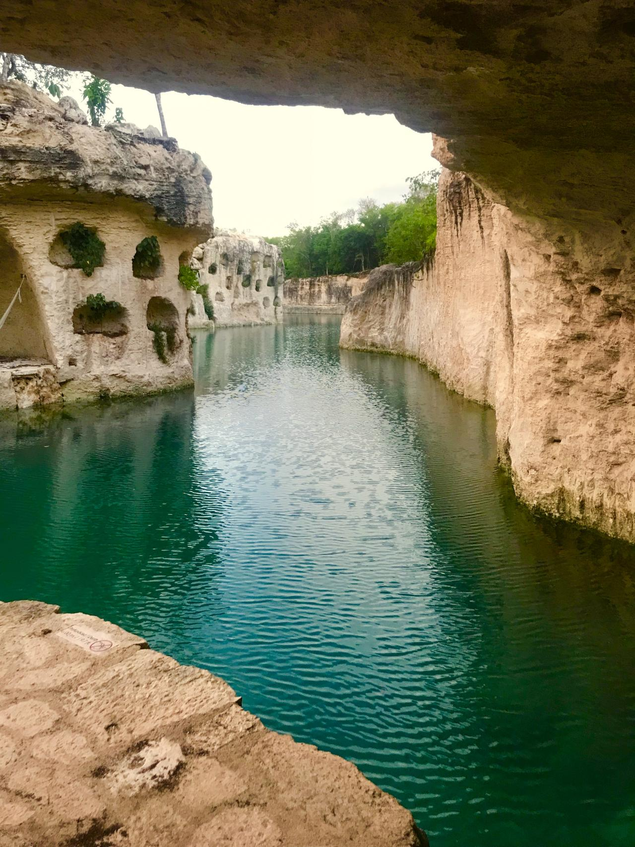 This river is magical with caves all along the way.