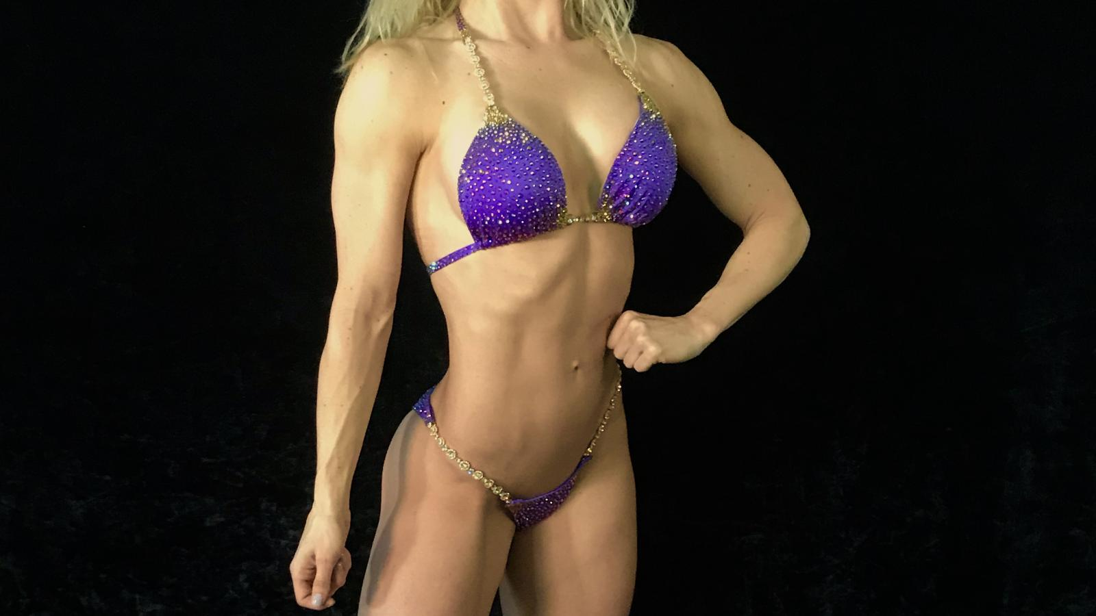 Grape Purple Bikini Competition Suit by Merry Christine Bodywear