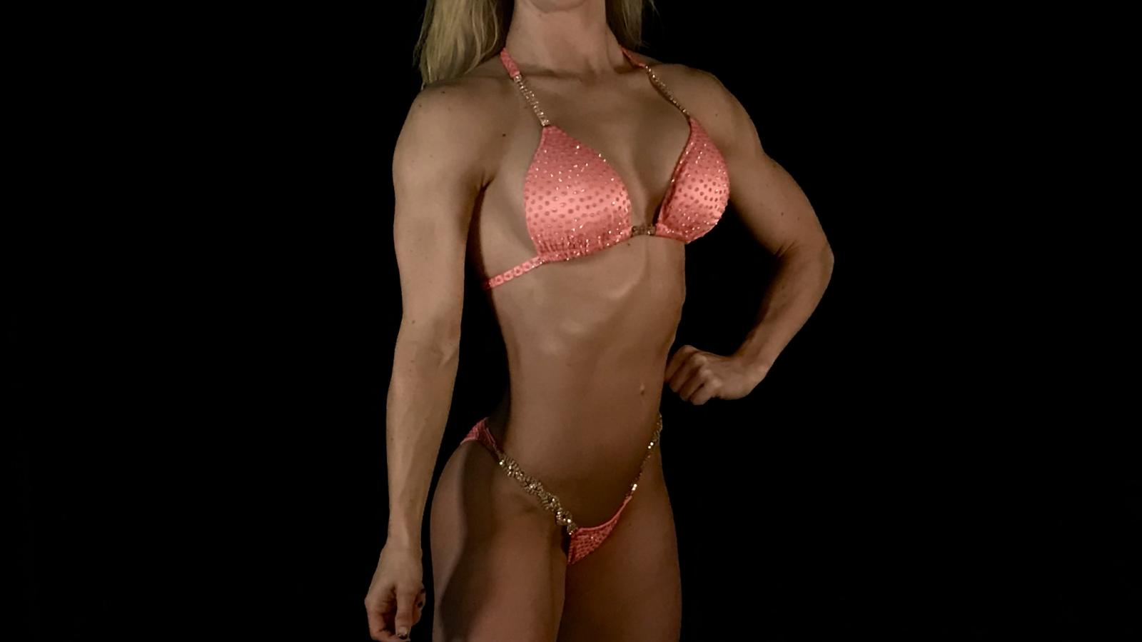 Penelope Peach Bikini Competition Suit by Merry Christine Bodywear