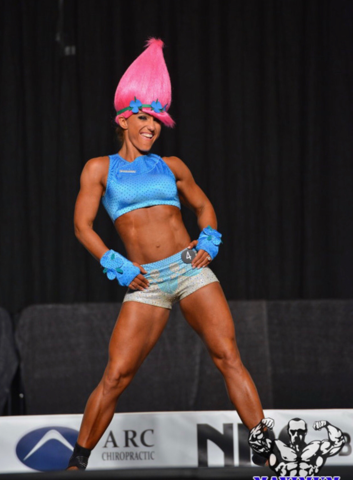 Kristy Avery Fitness Competition Merry Christine Couture Suit